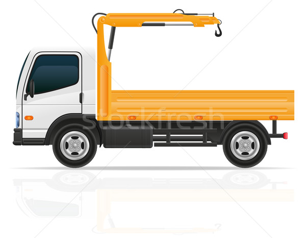 truck with a small crane for construction vector illustration Stock photo © konturvid