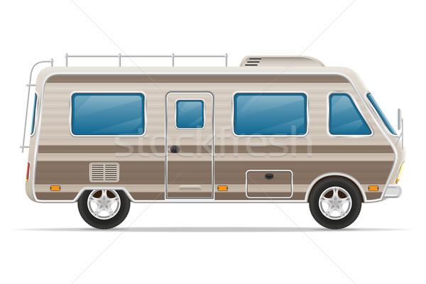 Auto van caravan kampeerder mobiele home Stockfoto © konturvid