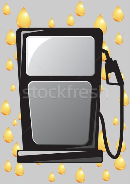 Ağızlık ikon örnek araba yağ Stok fotoğraf © konturvid