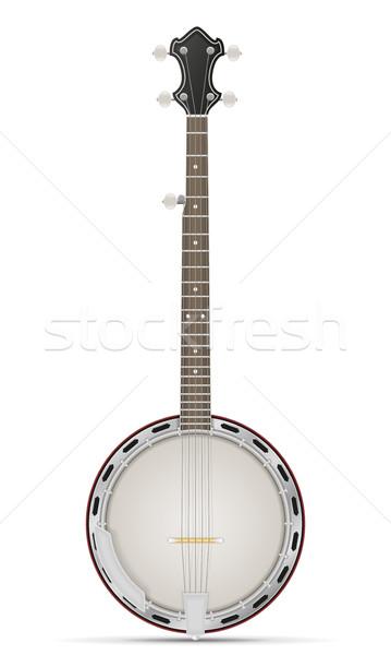 banjo stock vector illustration Stock photo © konturvid