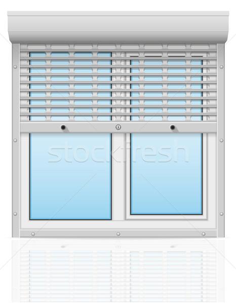 пластиковых окна за металл жалюзи вектора Сток-фото © konturvid