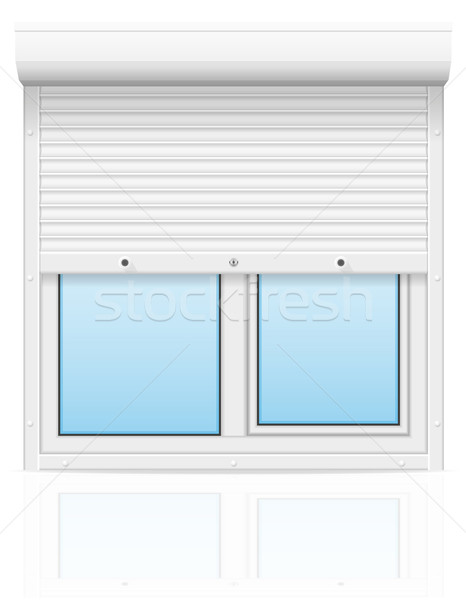 plastic window with rolling shutters vector illustration Stock photo © konturvid