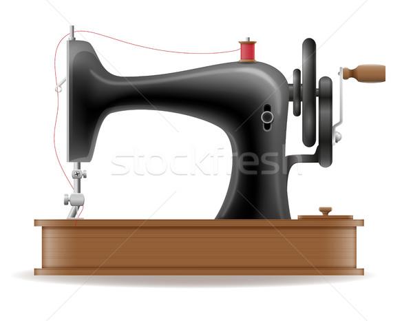 швейные машины старые ретро Vintage икона складе Сток-фото © konturvid