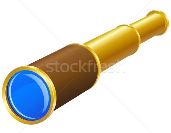 телескопом изолированный белый морем знак синий Сток-фото © konturvid