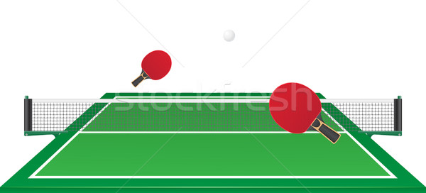table tennis ping pong vector illustration Stock photo © konturvid