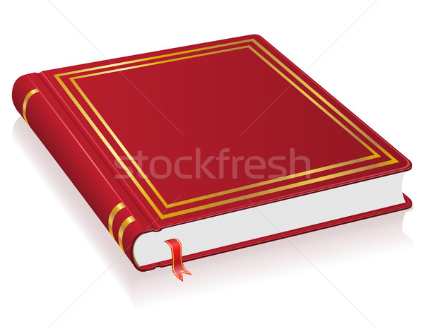red book with bookmark vector illustration Stock photo © konturvid