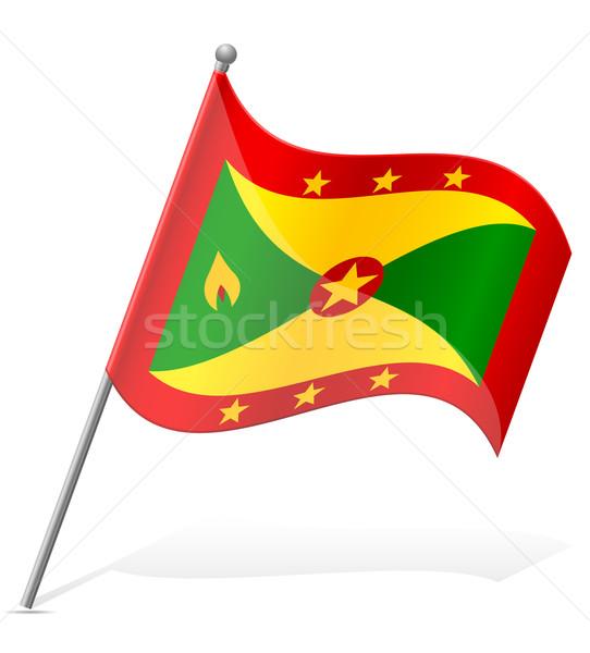 flag of Grenada vector illustration Stock photo © konturvid