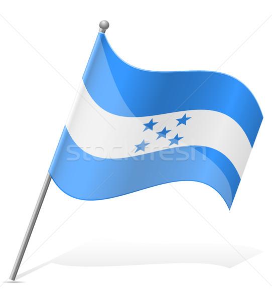 Bandeira Honduras isolado branco globo mundo Foto stock © konturvid
