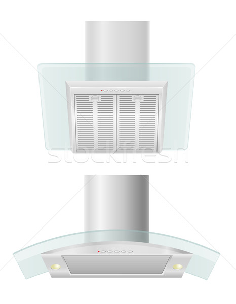 extractor hood for kitchen vector illustration Stock photo © konturvid