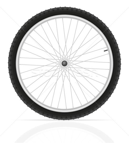 Fiets wiel geïsoleerd witte gezondheid fiets Stockfoto © konturvid