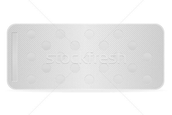 ストックフォト: 医療 · 錠剤 · パッケージ · 治療 · 孤立した · 白