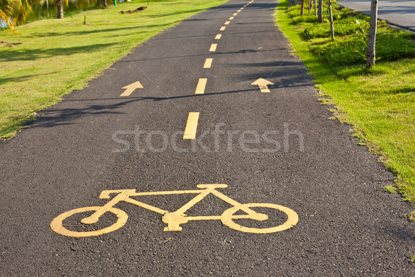 bicycle lane in park Stock photo © koratmember