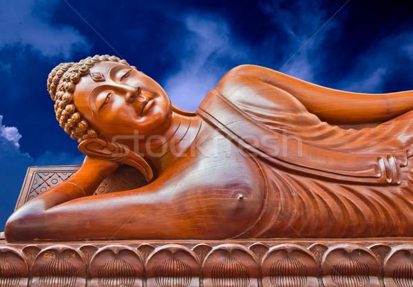 sleep wood crafted buddha Stock photo © koratmember