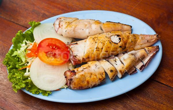 fried squid Stock photo © koratmember