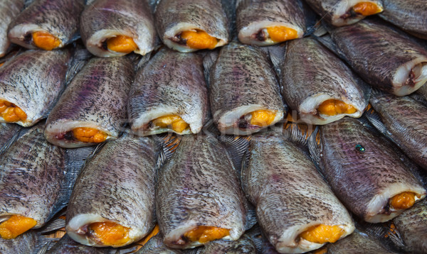 sun dried gourami fish Stock photo © koratmember