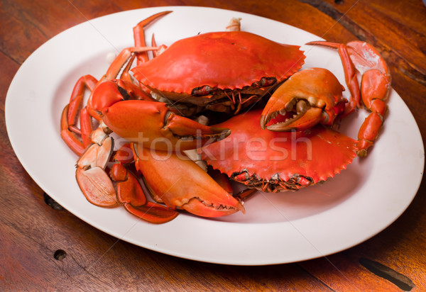 Caranguejo preparado prato peixe Foto stock © koratmember