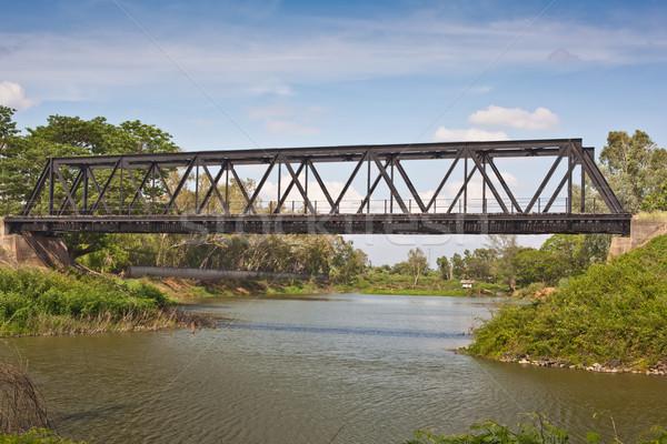 Ferrovia ponte piccolo cielo costruzione natura Foto d'archivio © koratmember