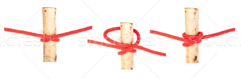 knot series : clove hitch Stock photo © koratmember