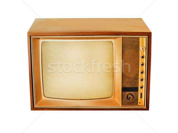 Tv eski nadir bağbozumu televizyon Stok fotoğraf © koratmember