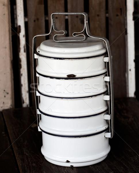 Vintage Metal Food Carrier Stock photo © koratmember