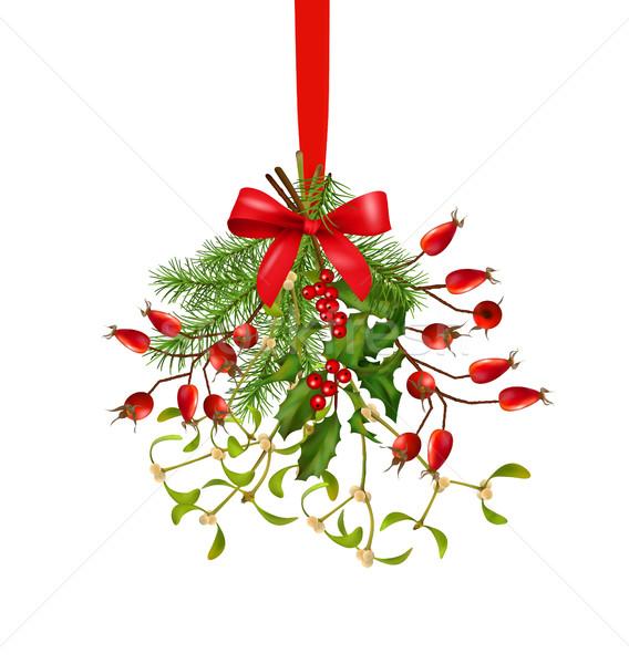Suspendu Noël décoration nouvelle année vecteur Photo stock © kostins