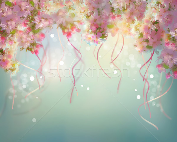 Spring Cherry Blossom Wedding Background Stock photo © kostins