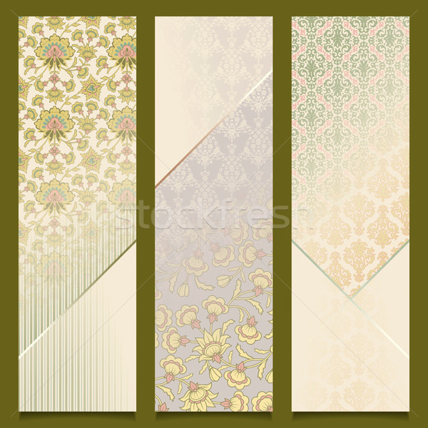 Vintage vector banners retro pattern design set Stock photo © kostins