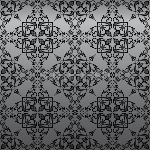 Damask Wallpaper Background Stock photo © kostins