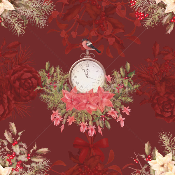 Christmas retro seamless pattern Stock photo © kostins