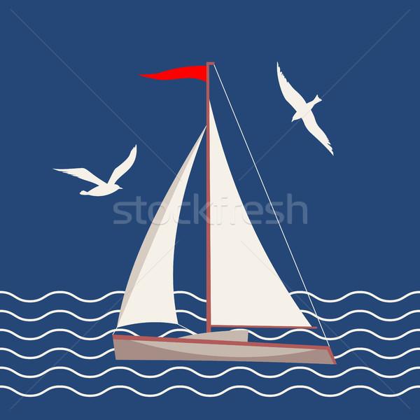 Flat Marine Icon Stock photo © kostins