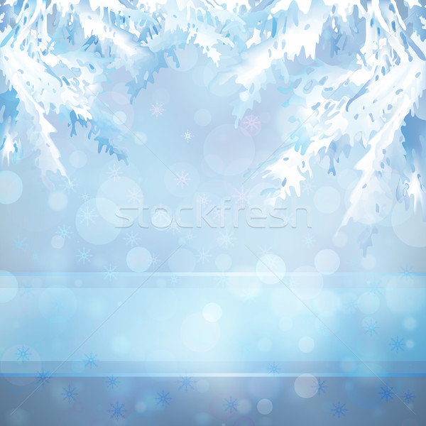 Christmas background with Christmas tree branches Stock photo © kostins