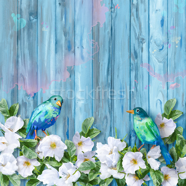 Floral Watercolor Background Stock photo © kostins