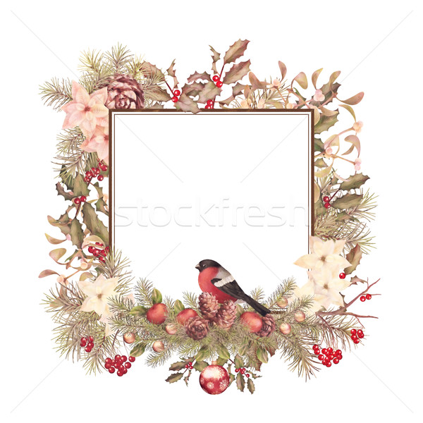Christmas Vintage Frame Stock photo © kostins