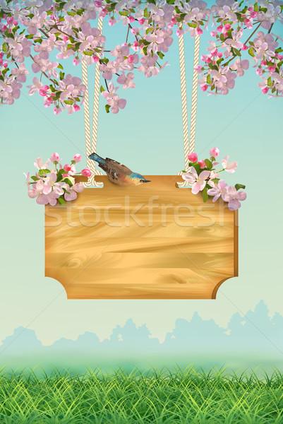 Spring Poster Template Stock photo © kostins