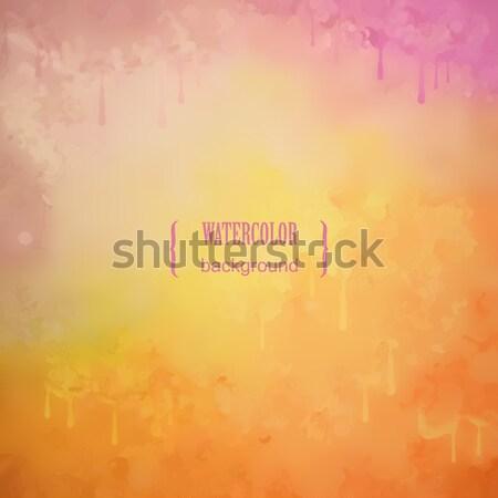 ストックフォト: 抽象的な · ベクトル · 水彩画 · グランジ · 絵画 · テクスチャ