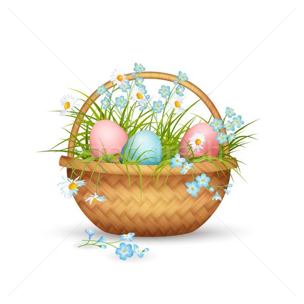 Vector Easter Basket Stock photo © kostins