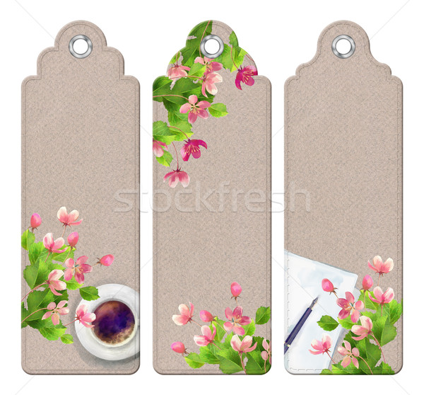 Spring Watercolor Bookmarks Stock photo © kostins