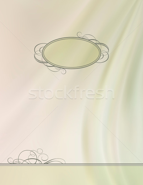 Vintage vector frame silk wave background Stock photo © kostins