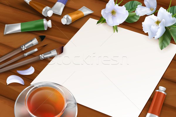 Vector Spring Background Stock photo © kostins