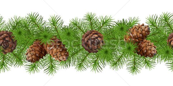 Christmas Seamless Vector Garland Stock photo © kostins