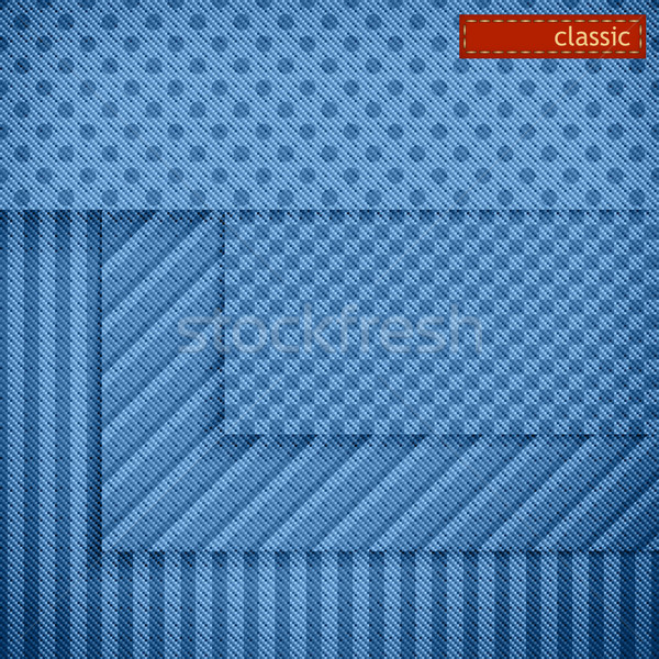 Fabric patterns for website background design. Set Stock photo © kostins