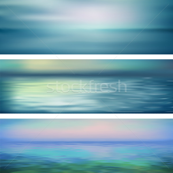 Abstract Vector Water Banners Stock photo © kostins