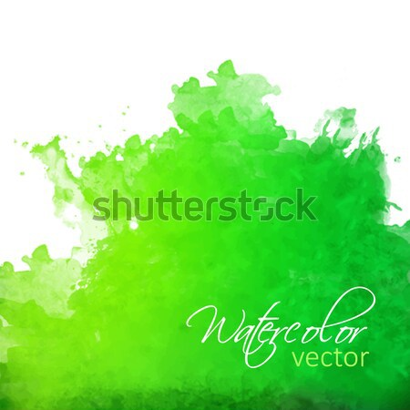 Stock photo: Abstract green watercolor splash