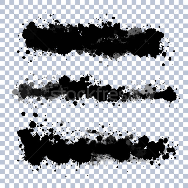 Vector Transparent Blots Set Stock photo © kostins