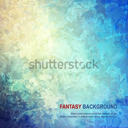 Abstrato pintado digital aquarela textura do grunge mar Foto stock © kostins