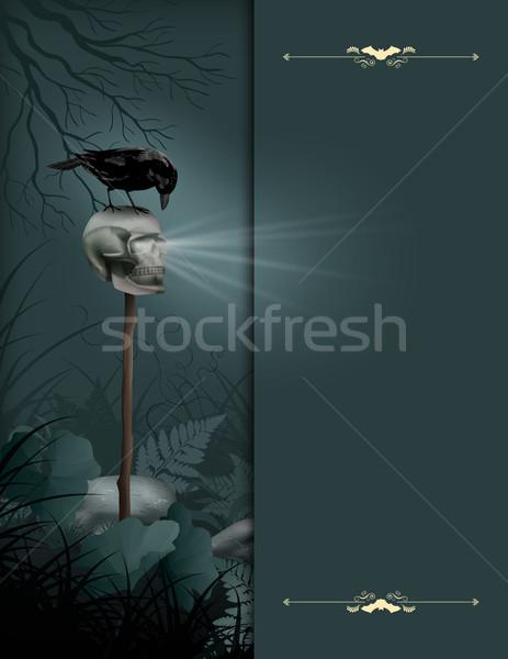 Halloween vector night scene Stock photo © kostins