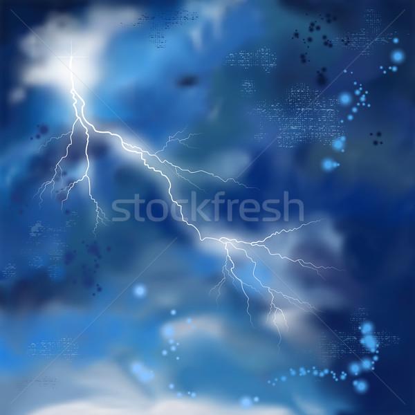 Notte tempesta cielo pittura stormy vettore Foto d'archivio © kostins