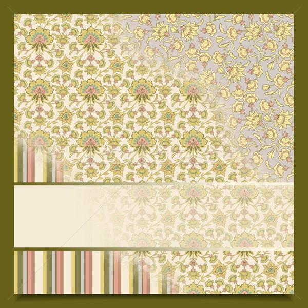 ヴィンテージ 抽象的な レトロな グリーティングカード 挨拶 招待 ストックフォト © kostins