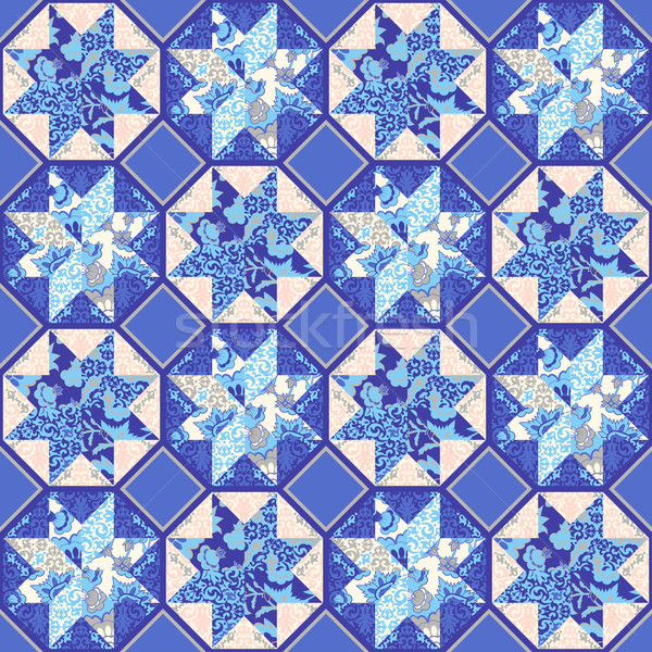 Vettore trapunta abstract patchwork Foto d'archivio © kostins