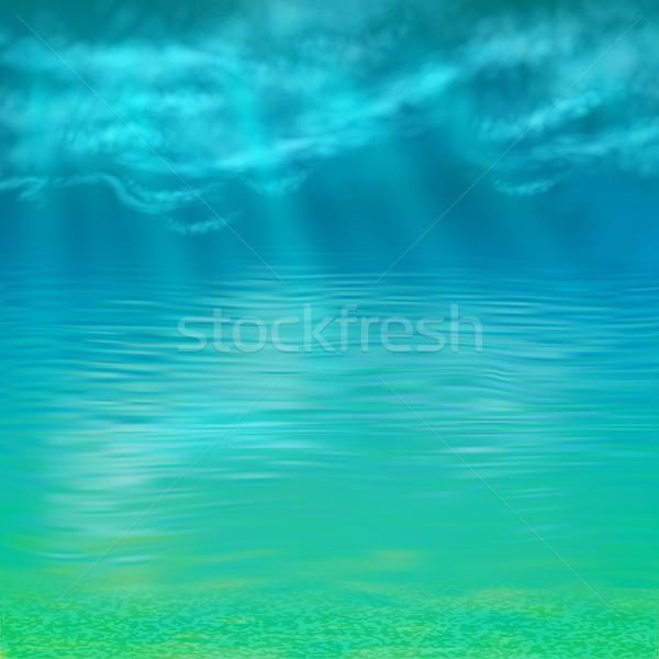 Vetor abstrato água natureza mar fundo Foto stock © kostins